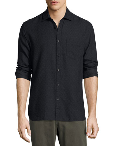 John T Standard-Fit Shirt, Navy