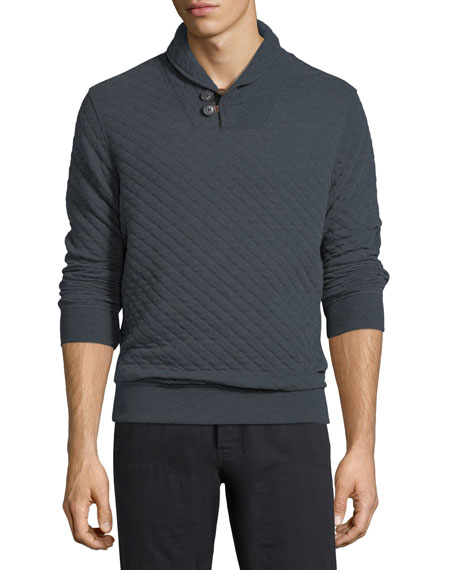 Billy Reid Quilted Shawl-Collar Pullover