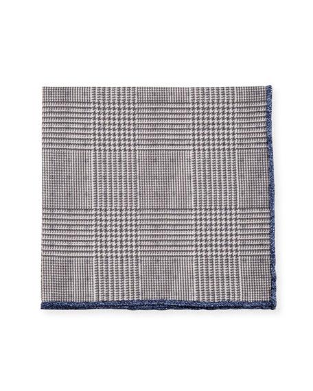 Reversible Silk-Cotton Pocket Square
