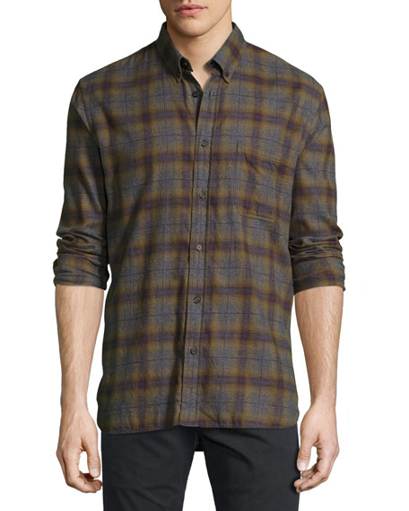 Billy Reid Tuscumbia Plaid Cotton Shirt