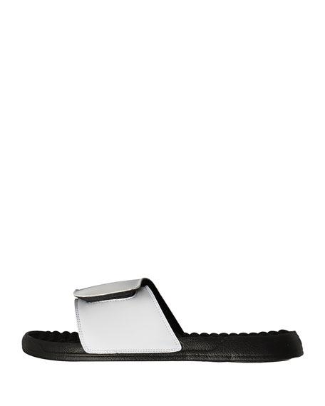 Striped Flamingo Slide Sandal
