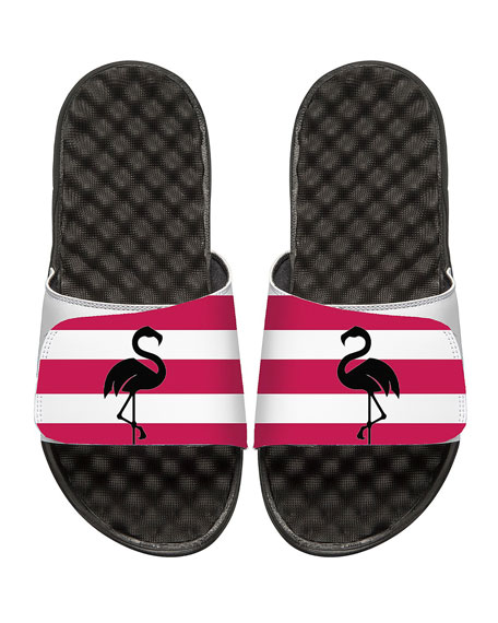 ISlide Striped Flamingo Slide Sandal