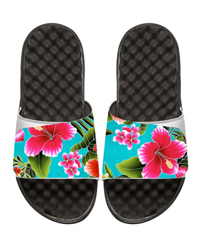 Kauai Tropical Floral Slide Sandal