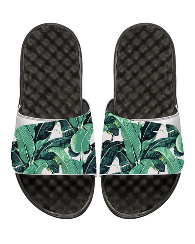 Tropical Banana Leaf Slide Sandal