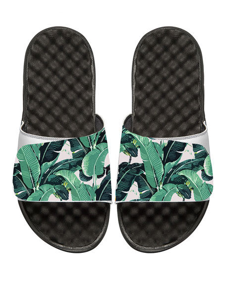 ISlide Tropical Banana Leaf Slide Sandal