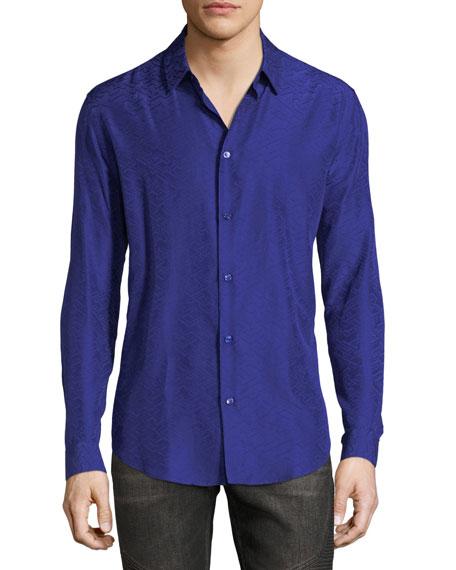 Versace Greca Jacquard Sport Shirt