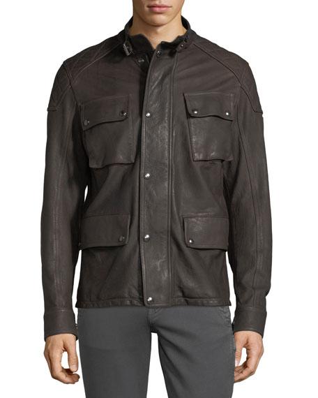 Woodbridge Leather Utility Jacket