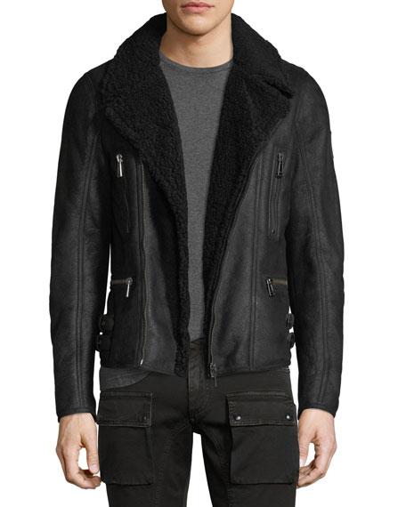 Fraser Shearling Moto Jacket