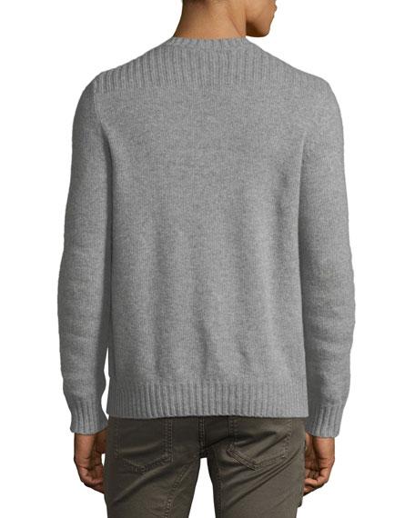 Lanson Virgin Wool-Cashmere Crewneck Sweater