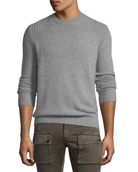 Belstaff Lanson Virgin Wool-Cashmere Crewneck Sweater