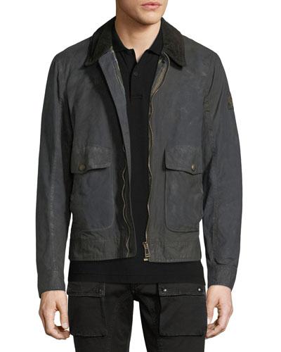 Cotton Corduroy-Collar Utility Jacket