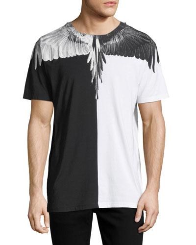 Split Feathers Short-Sleeve T-Shirt