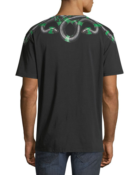 Ragko Snake-Print Graphic T-Shirt