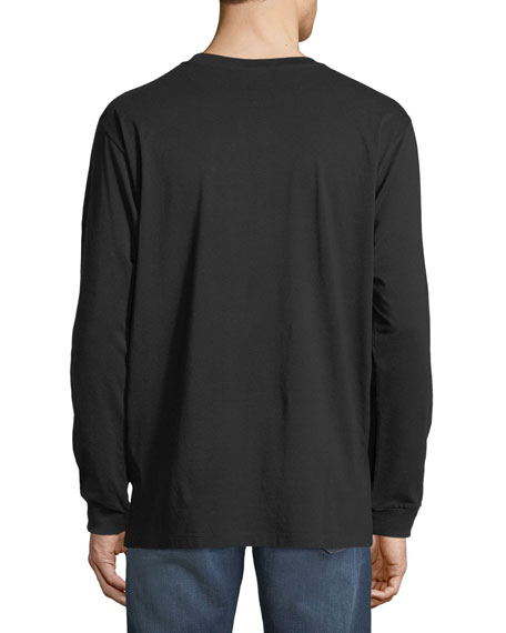Iamens Eagle-Print Long-Sleeve T-Shirt