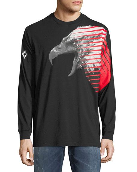 Marcelo Burlon Iamens Eagle-Print Long-Sleeve T-Shirt