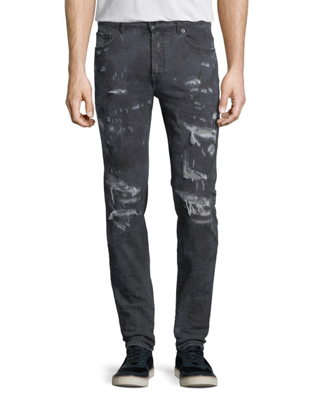 Marcelo Burlon Arke Distressed Tie-Dye Slim-Fit Jeans