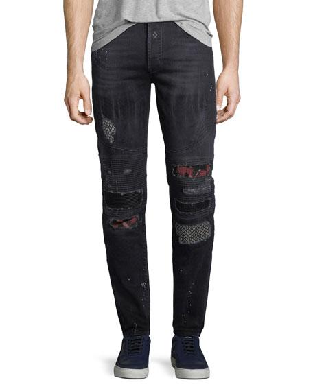 slim faded jeans - Black Marcelo Burlon lUjBDoAg2z