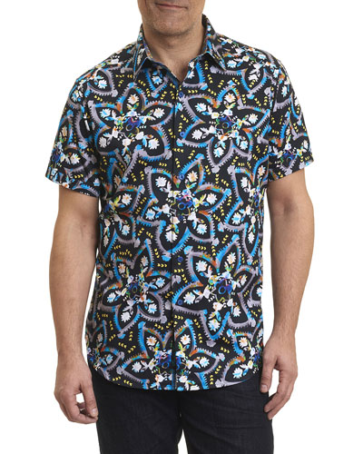 Halder Printed Short-Sleeve Sport Shirt, Multi