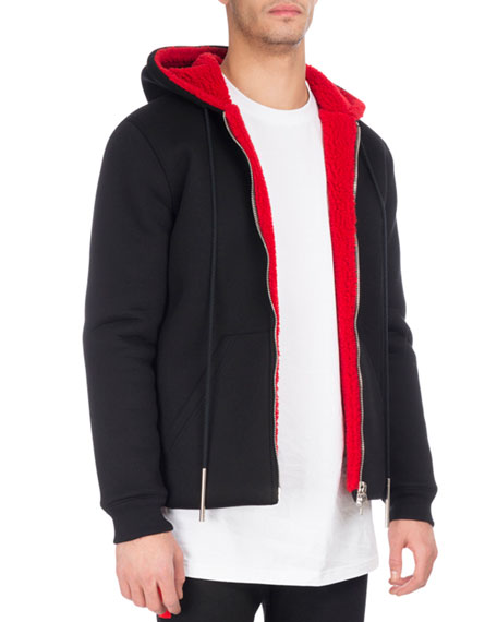 Givenchy Sherpa-Lined Hoodie