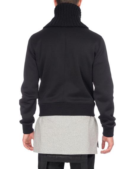 Funnel-Neck Zip-Front Sweatshirt