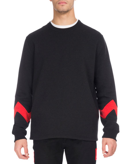 Givenchy Zigzag-Band Crewneck Sweatshirt