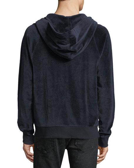 Velour Full-Zip Hoodie