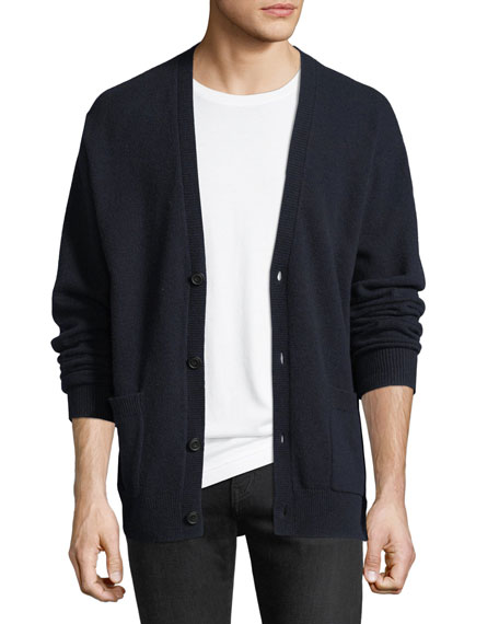 Wool-Cashmere V-Neck Cardigan