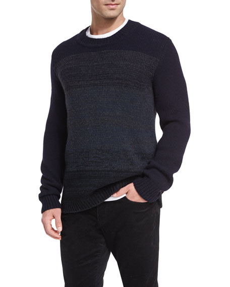 Marled Yak-Wool Crewneck Sweater