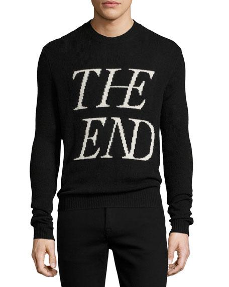 McQ Alexander McQueen The End Wool-Cashmere Crewneck Sweater