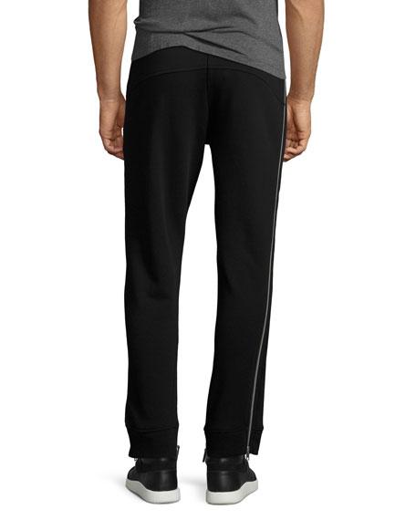 Side-Zip Cotton Sweatpants
