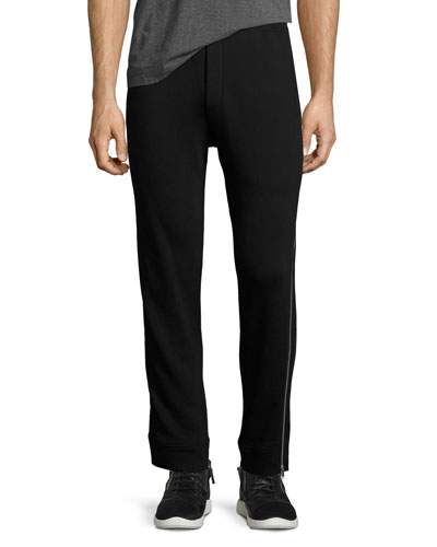 Side-Zip Cotton Sweatpants