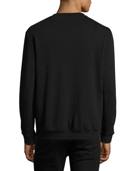 Side-Zip Cotton Sweatshirt