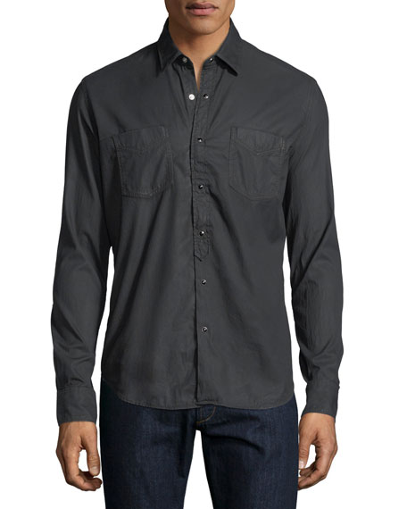 Special Resin-Wash Western Shirt