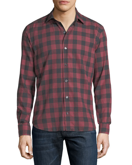 Culturata Buffalo Check Cotton Shirt