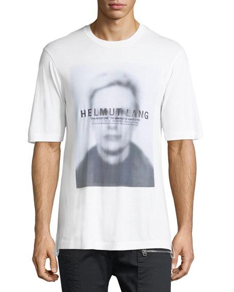 Helmut Lang Ghost Face Jersey Crewneck T-Shirt