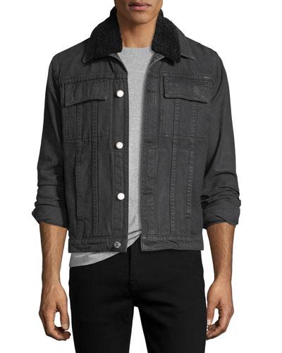 Mr. 87 Denim Jacket with Faux Fur Collar