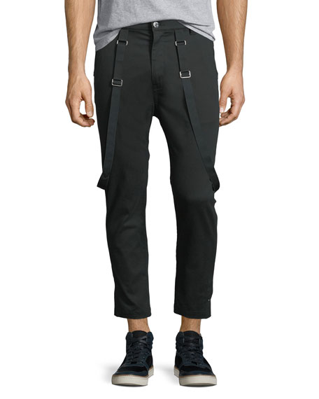 Helmut Lang Cropped Suspender Pants