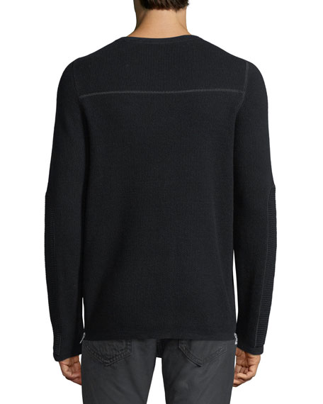 Merino Wool-Cotton Thermal Sweater