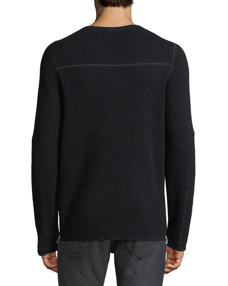 Merino Wool-Cotton Thermal Sweater