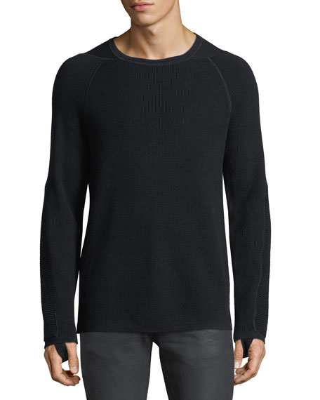 Helmut Lang Merino Wool-Cotton Thermal Sweater