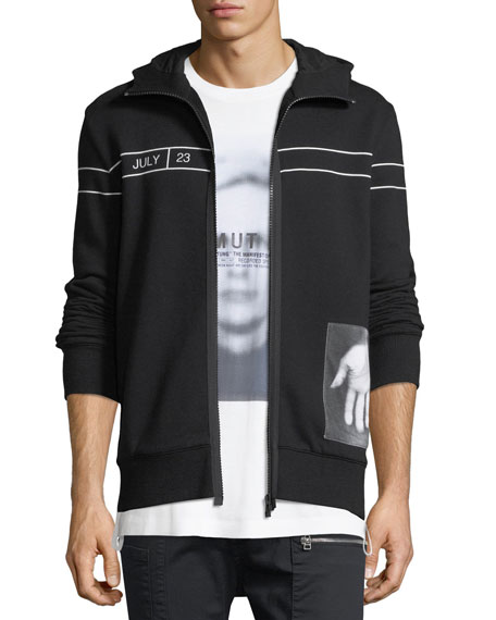 Helmut Lang Dream Photographic Logo Cotton Hoodie