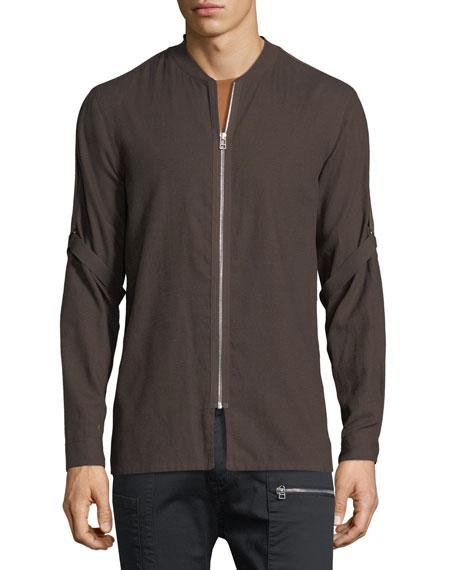 Cotton-Wool Bandage-Strap Shirt
