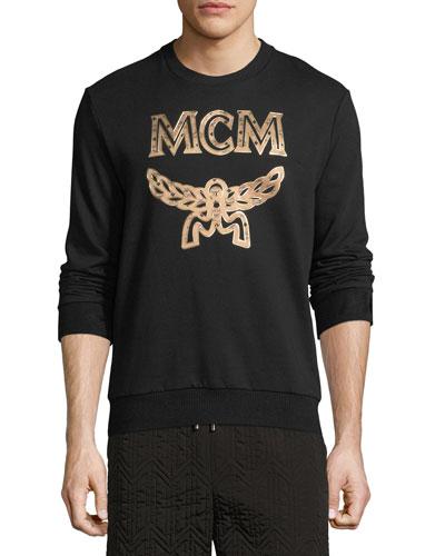 Metallic Visetos Logo Sweatshirt