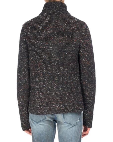 Donegal Wool-Alpaca-Silk Zip Cardigan