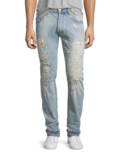 Super-Distressed Slim Jeans