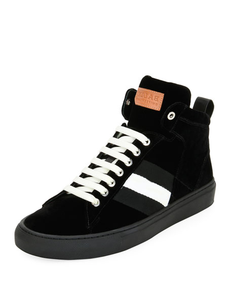 BallyHedern Velvet High-Top Sneakers wNvYeL