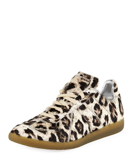 Maison Margiela Replica Leopard-Print Calf Hair Sneaker