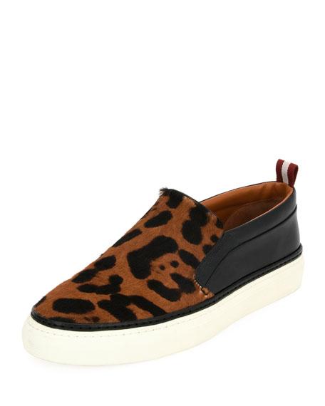 Herrison Leopard Ponyhair Skate Sneaker