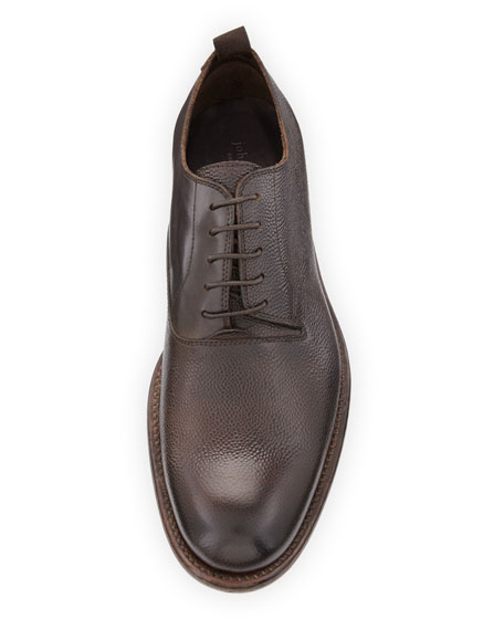 Fulton Grained Leather Oxford Shoe