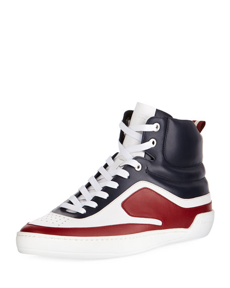 Bally Etra Leather High-Top Sneaker and Matching Items